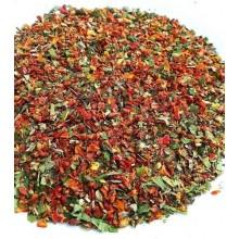 mieszanka pomidorowo-bazyliowa z dodatkiem czosnku niedźwiedziego