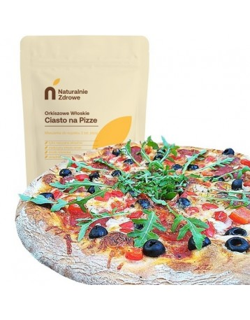 10 x Ciasto na pizze z mąki orkiszowej 500g + drożdże 100g