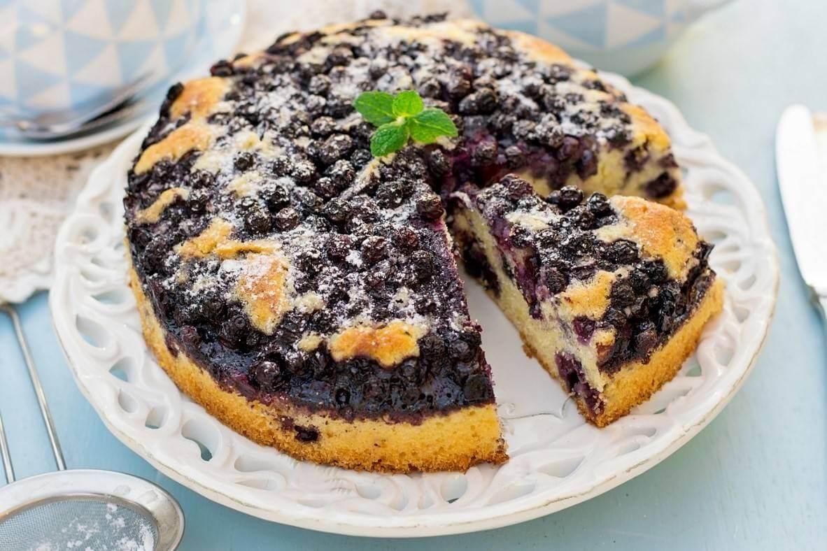 Ciasto jaglane fit z borówkami